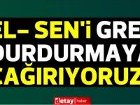 Büyükyılmaz'dan EL_SEN'e çağrı:Halkı bayram üstü elektriksiz bırakma,grevi askıya al,17 Mayıs'ta görüşelim.