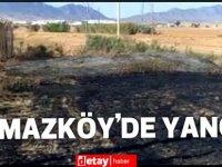 Yılmazköy'de çıkan arazi yangınında elektrik trafosu yandı