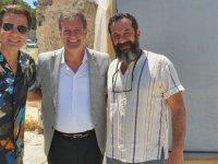 Arıklı ''Bir Zamanlar Kıbrıs'' Dizisinin Setini Ziyaret Etti
