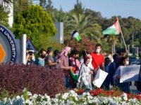 DAÜ'de İsrail Protestosu!