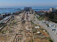 'Körler ülkesi' Kadıköy'ün tarihine ışık tutan Haydarpaşa Garı arkeolojik kazılarında 2400 yıl öncesine ait yapı kalıntısı bulundu