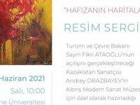 """Andrey Orazbayev'in""""Hafızaların Haritası"""" adlı kişisel sergisi, 1 Haziran Salı günü saat 10:00'da Turizm ve Çevre Bakanı Fikri Ataoğlu tarafından açılacak."""