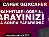 KTİMB Başkanı Cafer Gürcafer, KKTC Cumhurbaşkanlığı Sarayı Projesine işaret ederek, Cumhurbaşkanı Ersin Tatar'a çağrıda bulundu