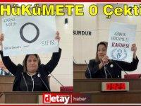 Halkın Partisi Milletvekili Gülşah Sanver Manavoğlu hükümete 0 çekti!