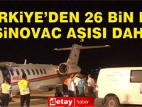 Türkiye'den, KKTC'ye 26 bin doz Sinovac aşısı daha gönderildi