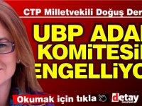 """""""UBP Adalı cinayetine yönelik komite kurulmasını engelliyor"""""""