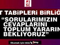 K.T. TABİPLERİ BİRLİĞİ, Lefkoşa'da Yapılacak 500 Yatak Kapasiteli Hastaneyle İlgili Hükümete Dört Soru Yöneltti