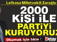 Zaroğlu: 2 bin kişi ile istifa edip parti kuracağız