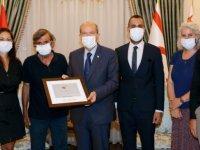 Cumhurbaşkanı Tatar Kaplumbağa Çalışması İçin KKTC'ye Gelen Heyeti Kabul Etti