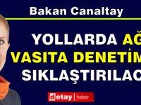 Girne Dağ Yolu Olarak Bilinen Değirmenlik-Çatalköy Yolunda Ağır Vasıta Denetimi Yapıldı