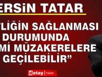 Tatar, Brüksel'e Gitmeden Önce Ercan'da Açıklamalarda Bulundu