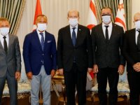 Cumhurbaşkanı Tatar, Kıbrıs Ada Kent Üniversitesi'ni kabul etti