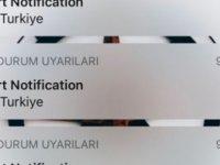 Türkiye'deki iPhone kullanıcılarına 'Test Alert Notification' uyarısı