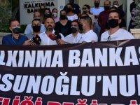 KTAMS Kalkınma Bankası Önünde Basın Açıklaması Yaptı, Siyah Çelenk Bıraktı