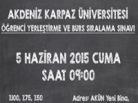 Akdeniz Karpaz Üniversitesi Öğrenci Yerleştirme Ve Burs Sıralama Sınavı yapılıyor
