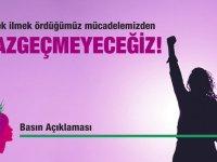 CTP Kadın Örgütü: İlmek ilmek ördüğümüz mücadelemizden vazgeçmeyeceğiz!