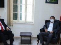 YÖDAK Başkanı Prof. Dr. Turgay Avcı,CTP Genel Başkanı Tufan Erhürman'ı ziyaret ederek görüştü