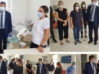 Üstel, Akdoğan Sağlık Merkezi, Vadili Sağlık Ocağı, ve Paşaköy Sağlık Ocağı'nı ziyaret etti