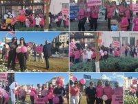 Gazimağusa'da Meme Kanseri Farkındalık Yürüyüşü