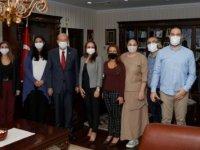 Cumhurbaşkanı Tatar, Cumhurbaşkanlığı Basın Ve Halkla İlişkiler Bürosu Personeliyle Bir Araya Geldi
