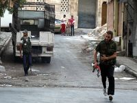 Halep'te askeri konvoya saldırı