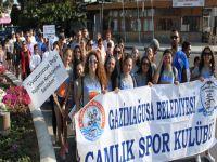 """Gazimağusa'da """"Uyuşturucuya Karşı Birlikte Yürüyoruz"""" yürüyüşü yapıldı"""