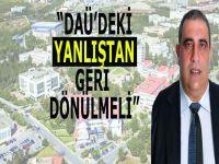 """Emiroğluları: """"DAÜ'deki AVM yanlışından geri dönülmeli"""""""