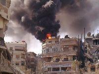 Esed güçleri Şam'a bomba yağdırıyor