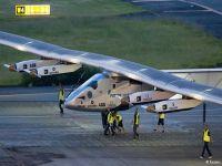 Güneş enerjili uçak rekor için havalandı