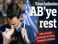 "Yunanlar %61 ile dayatmalara ""Hayır"" dedi"