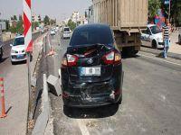 Davutoğlu'nun konvoyunda korkutan kaza