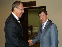 Davutoğlu, Lavrov ile görüştü