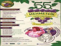 55.Mehmetçik Üzüm Festivali yarın başlıyor