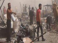 Suriye'de pazar yerine bombalı saldırı; 70 ölü