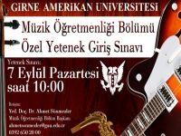 GAÜ Müzik Öğretmenliği Yetenek Sınavı 7 Eylül'de