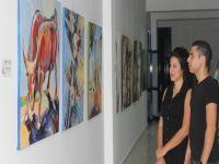 1.Uluslararası Ressamlar Buluşması eserleri LAÜ'de sergileniyor