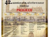 42.Akdoğan Spor, Kültür ve Sanat Festivali başlıyor