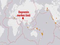 Afganistan'da 7.6 büyüklüğünde deprem