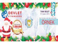 KKTC Devlet Piyangosu Yeni Yıl büyük ikramiyesi 1.000.000₺...