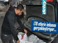 LTB kaçak etleri bagajdan çıkardı