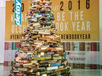 DAÜ ve T&T Airport işbirliğinde Ercan'da kitap ağacı oluşturuldu