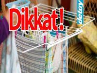 Ev içinde çamaşır kurutmak hastalık nedeni