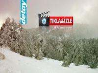 Kıbrıs'a ilk kar düştü