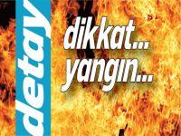 Çatalköy'de araç yandı!
