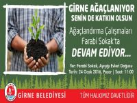 Girne Belediyesi'nin Ağaçlandırma Kampanyası devam ediyor