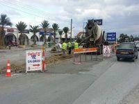Karaoğlanoğlu caddesi üzerindeki çember projesi devam ediyor