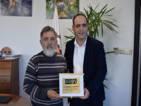Otomobil Kulübü Başkanı Topçu, Harmancı'yı ziyaret etti.