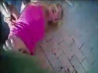 Polisten genç kadına korkunç dayak