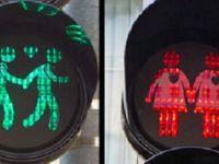 Hollanda'da 'eşcinsel trafik ışıkları'