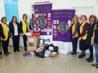 Girne Lions Kulüplerinden kadın sığınma evine bağış